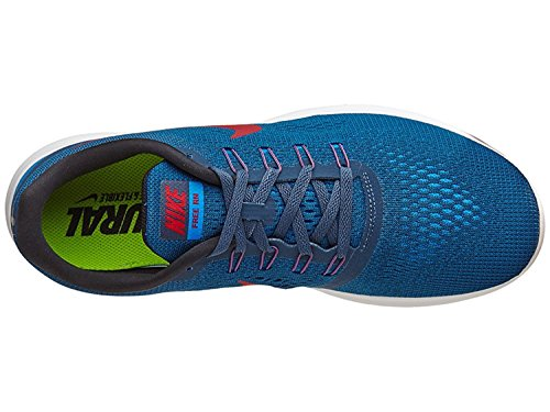 NIKE Mens Free Running Shoes (11.5, Squadron Blue/Gym Red/Blue Spark/Black)