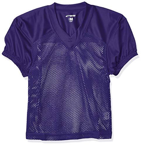 Football Jersey Purple - CHAMPRO Youth Stretch Polyester Practice Football Jersey, Purple, Medium