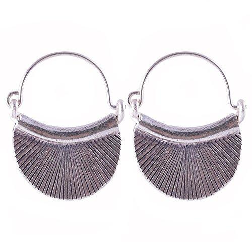 Silver Karen Ring Tribe Hill - Pretty Dangle Earrings Pure Silver Karen Hill Tribe Handmade