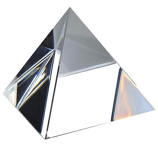 H/&D 6,1 cm H Kristall klar Pyramide Form Briefbeschwerer mit Geschenk-Box