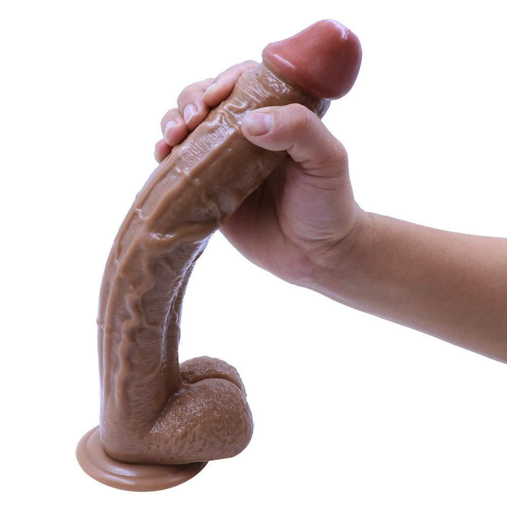 Liuyifo Huge Big Insert 12.2 Inch Lifelike Massager for Women