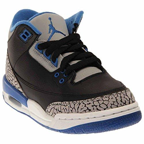 Wolf BG Black Junior Black Retro Nike grey Trainers Blue Air Grey Jordan Sport Blue 3 wqc6I1