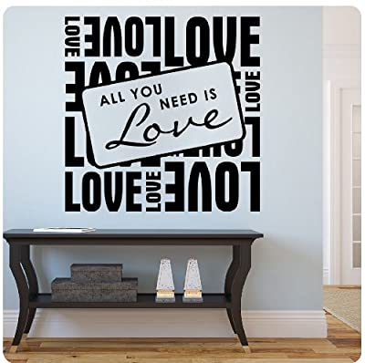 All you need is love Beatles Wall Decal Sticker Art Mural Home Décor Quote