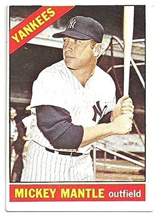 Vintage Mickey Mantle Baseball Card 1966 Topps Baseball Card 50
