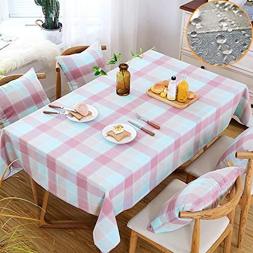 Zuoanchen Tischdecken Baumwoll Leinen Maschinenwaschbar Alltagliche