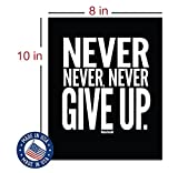 """Evolve Skins Motivational Quote Workout Gym Posters - 8"""" x 10"""" - Set of 4 - Classroom Office Wall Art - Inspirational Teen Boy Girl Fitness Success Sports Goal Hard Work Black Paper Poster Finish"""