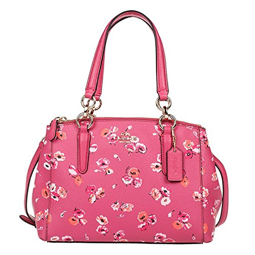 Leather Coach Carryall Wildflower Dahlia Christie in Crossgrain 5rOq0xrwI