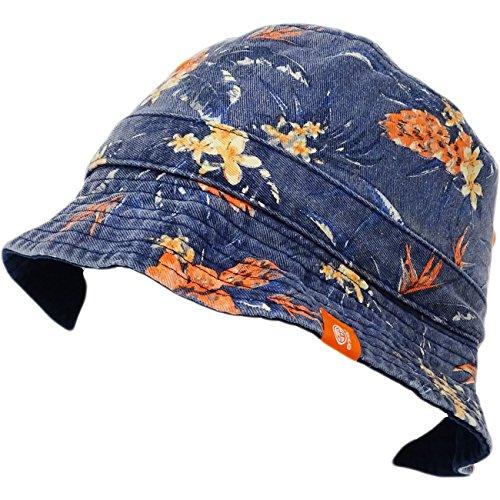 cket Hat - Floral Fisher Cap Indigo ()