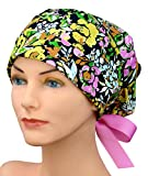 Womens Surgical Scrub Caps - The Hat Cottage -Small to Medium -Ribbon Ties - Shut it Down
