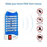 Bug Zapper Electronic Insect Killer Mosquito Killer Lamp,Eliminates Most Flying Pests! Night Lamp - (Blue)
