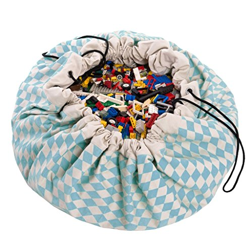 Diamond Patterned Tie (Play&Go Large Children Diamond Play Mat and Toy Organizer Storage 55