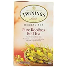 Twinings Teabags Pure Rooibos Red Tea, 20ea (Pack of 6)