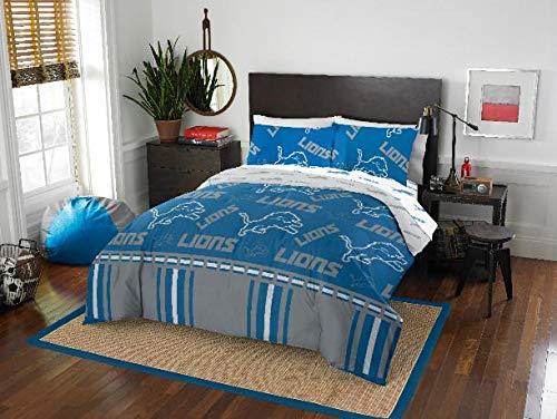 Detroit Lions NFL Queen Comforter & Logo'd Sheets, 5 Piece NFL Bedding, New! + Homemade Wax Melts -