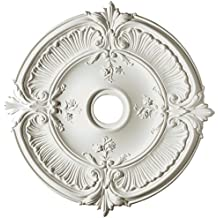 Focal Point 81031 31-Inch Acanthus Medallion 30 1/4-Inch by 30 1/4-Inch-Inch by 1 1/2-Inch, Primed White