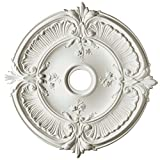 Focal Point Acanthus Medallion in Primed White (31-Inch)
