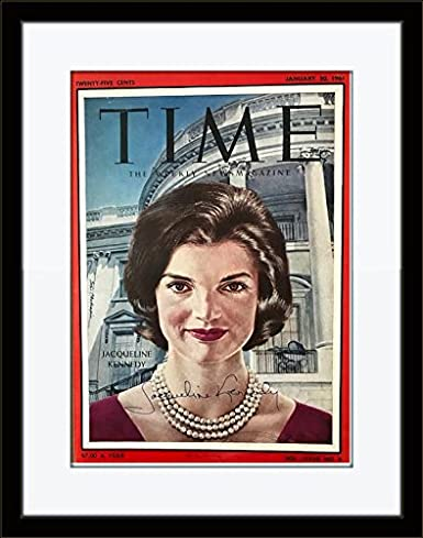 Amazon com: Framed Rare Jacqueline Jackie Kennedy Authentic