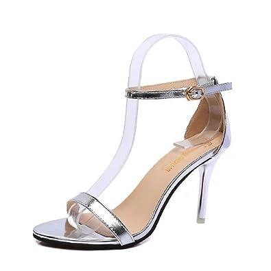 Jitian Talons Cheville Sandales Chaussures Ouvertes Hauts Sangle Boucle Bride Aiguilles Femmes Escarpin eQBoWrdCx