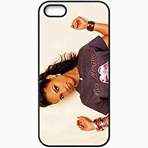 Personalized iPhone 5 5S Cell phone Case/Cover Skin Alicia Keys Girl Bracelets T Shirt Jewerly Black