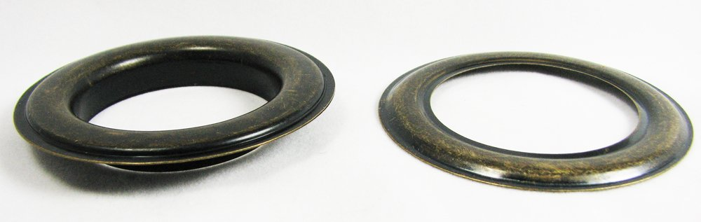 6pc. #12 (1.5'' hole diameter) Antique Brass Grommets