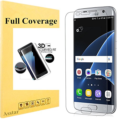 Galaxy S7 Edge Screen Protector, Asstar [Full Coverage] Case Friendly Premium HD Invisible Clear Film Anti-Bubble Anti-Scratch Screen Protector for Samsung Galaxy S7 Edge (1 Pack)