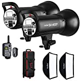 Godox SK400II Kit Including 2 x Flash Head Kit with 2 x Softboxes, 1 x XT-16 Trigger, 2 x Reflectors and Trolley Bag