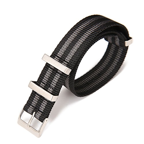 (Carty High-Density Nylon NATO Strap Replacement Watchband Men 20mm James Bond Watch Strap Omega)