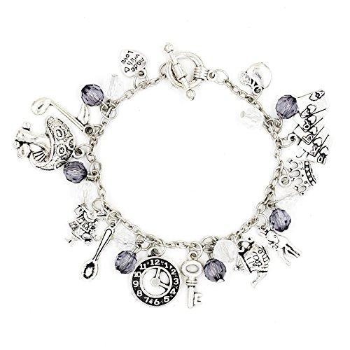 Alice in Wonderland Bracelets Fairytale Charms Cinderella Novelty Chain Charm Bracelet with Box