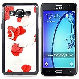 GIFT CHOICE / Teléfono Estuche protector Duro Cáscara Funda Cubierta Caso / Hard Case for Samsung Galaxy On5 O5 // Love Flowers Heart //