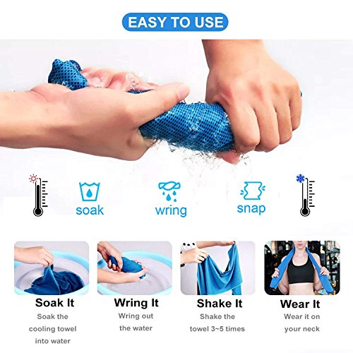 Trgowaul Cooling Towels 6 Pack, 40 x 12 Inches, Ice Towel, Soft Breathable Chilly Towels, Microfiber Towel for Yoga, Sport, Running, Gym, Workout,Camping, Fitness, Workout & More Activities by Trgowaul (Image #1)