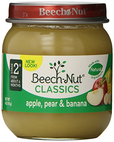 Beech-Nut Stage 2 Apple, Pear & Banana 4oz. (Pack of (Beech Nut Pears)