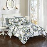 Chic Home Barcelona 8 Piece Reversible Comforter Set, Full/Queen, Grey, 8