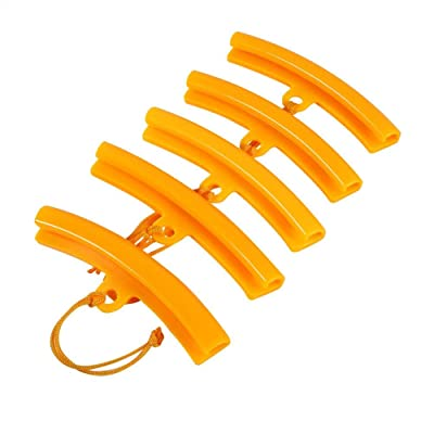Car Tire Rim Protectors Wheel Rim Saver Tyre Edge Changing Guard Rim Protector Removing Tool for Motorcycle Bike 5 Pcs (Orange): Automotive