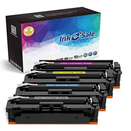 INK E-SALE Compatible 410A 410X CF410X CF410A Toner Cartridge for Color LaserJet Pro MFP M477fdw M477fnw M477fdn M477, M452dw M452nw M452dn M452 M377dw (CF410A CF411A CF412A ()