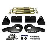 "Supreme Suspensions - Chevy K2500 K3500 1 - 1 - 3"" Adjustable Front Lift Torsion Keys + 2"" Rear Lift Blocks Suspension Leveling Lift Kit 4WD 4x4"