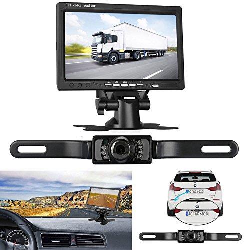 LeeKooLuu Backup Camera and 7'' TFT Monitor Kit Rear view camera wire...
