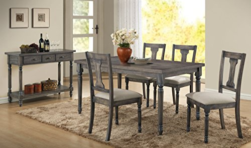 Acme Furniture 71435 Wallace Dining Table, Weathered Blue Washed Review