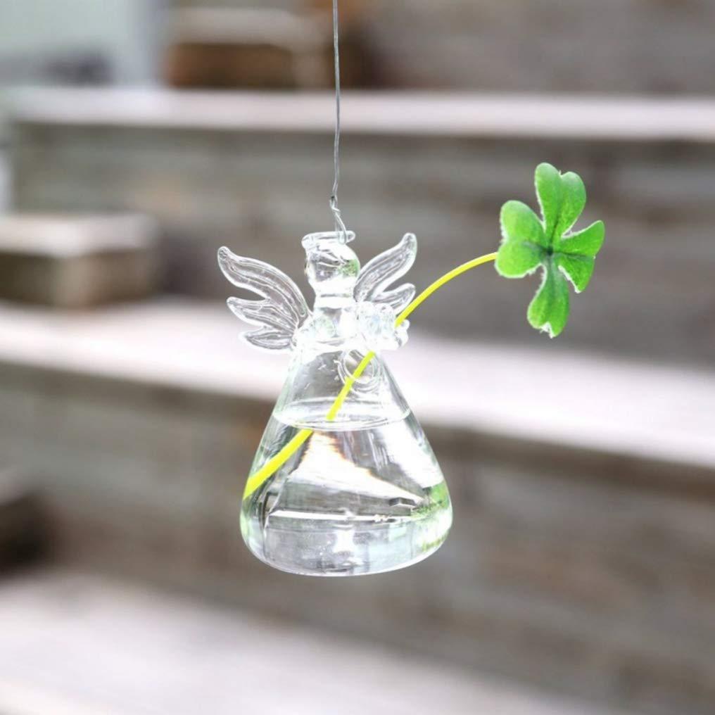 XINTECH DIY Clair Ange Vase Suspendu en Verre conteneur hydroponique cr/éatif de Mode Moderne pour la d/écoration de Jardin Salon Bureau /à la Maison
