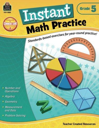 Instant Math Practice, Grade 5