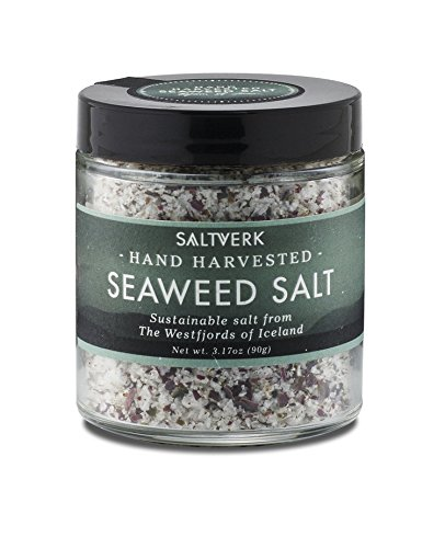 (Saltverk Seaweed Sea Salt, 3.17 Ounces of Handcrafted Gourmet Salt Flakes)