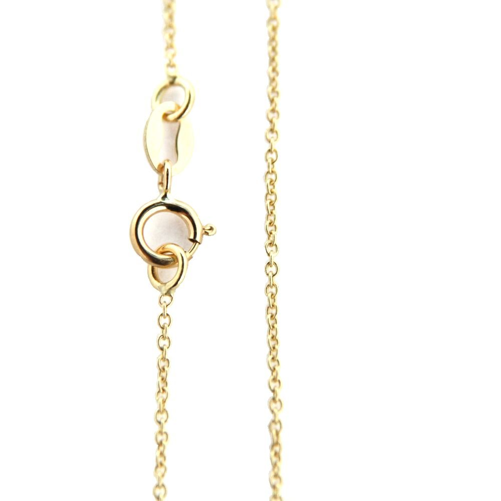 18K Yellow Gold Fine Cable Chain 13.5 inch