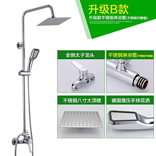 To Upgrade a NewBorn Faucet Kitchen Or Bathroom Sink Mixer Tap The Copper Shower Water Tap Shower Set Hot And Cold Full Brass Body Lift Shower Shower Sprinkler Standard A