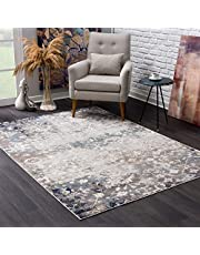 """Rug Branch Havana Collection Traditional Distressed Area Rug Large (8x11 feet) - 7'9"""" x 10'8"""", Navy Blue"""