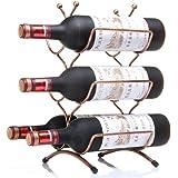 AZmarket ワインスタンド ワインボトルホルダー ワインラック クラシックブロンズ 6本用