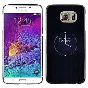 EJOY---Cubierta de la caja de protección la piel dura para el / Samsung Galaxy S6 / --TIEMPO desperdiciarla