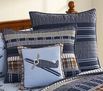 Amazon Com Pottery Barn Kids Danny Airplane Decorative Pillow Sham
