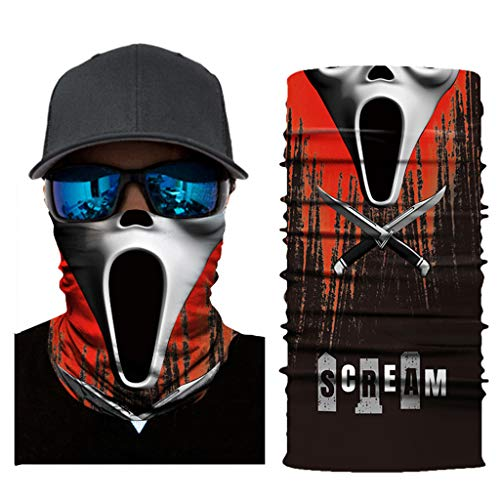 Vovomay Full Function Ski Motorcycle Neck Tube Warmer Cycling Biker Scarf Wind Face Mask (E) -