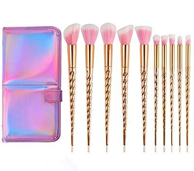 Unicorn Makeup Brushes Set Make up Brushes Professional Foundation Powder Eyeshadow Blending Concealer Cosmetics Tools Brushes Kit with Case