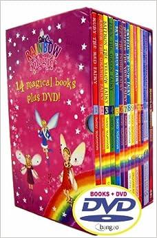 rainbow magic fairies 14 books box set collection dvd pack rrp rainbow magic colour. Black Bedroom Furniture Sets. Home Design Ideas