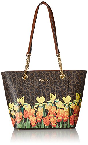 Calvin Klein Hayden Monogram Signature East/West Tote, Iris Multi by Calvin Klein