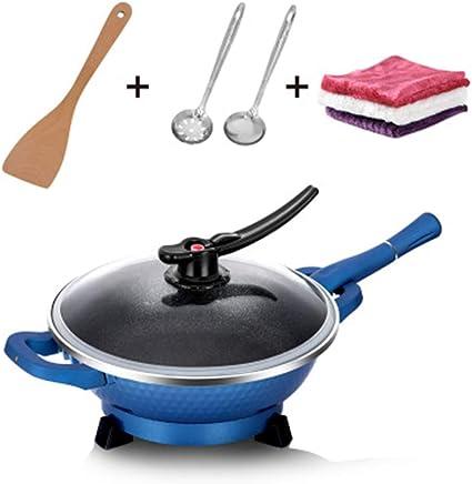 Po/êle Wok ultra l/ég/ère anti-adh/ésive 12 Convient pour cuisini/ère /à induction /électrique et gaz naturel 12in